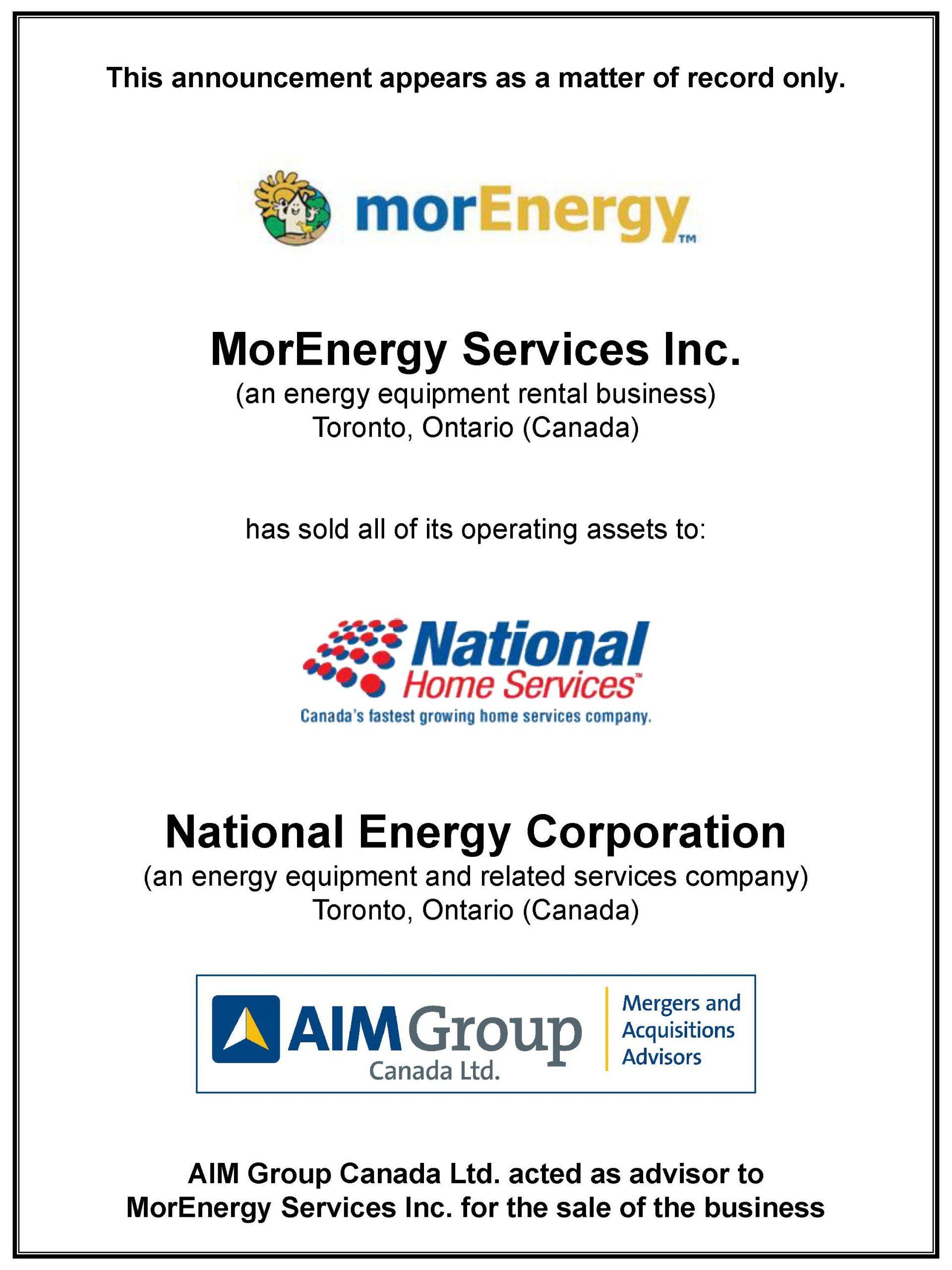 MorEnergy Services Inc.