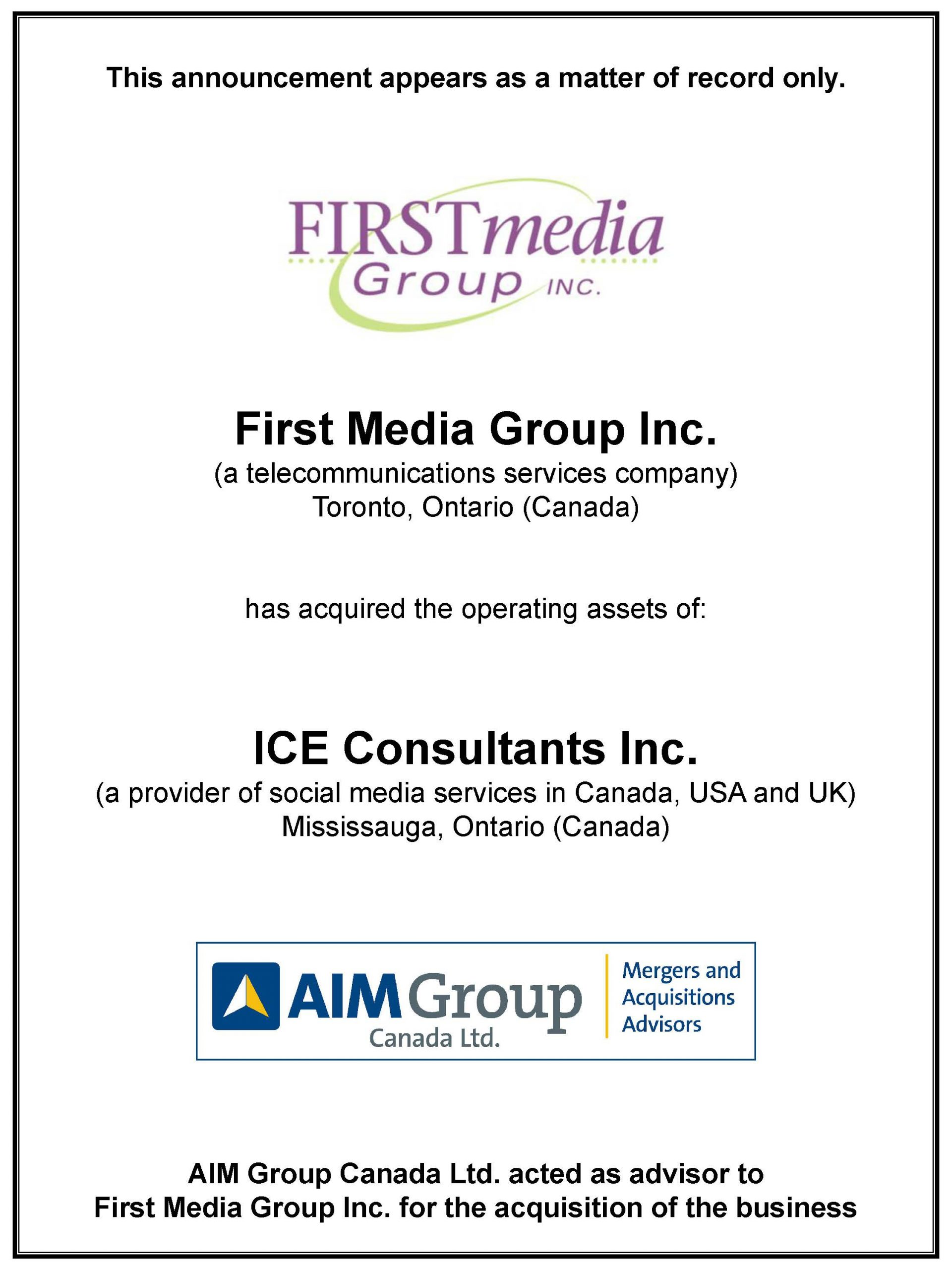First Media Group Inc.