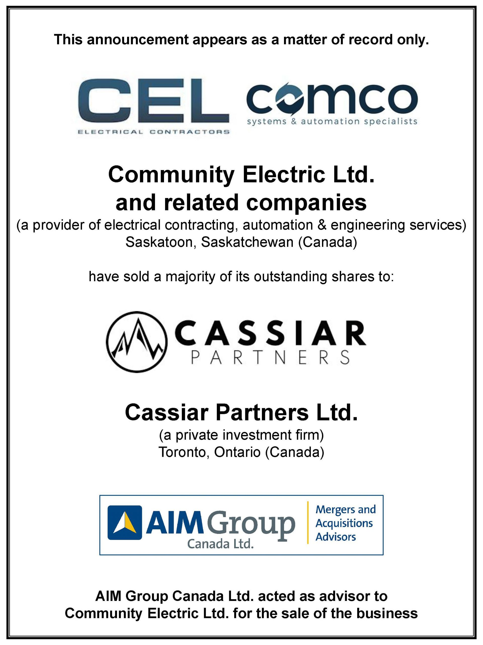 Community Electric Ltd. and related companies