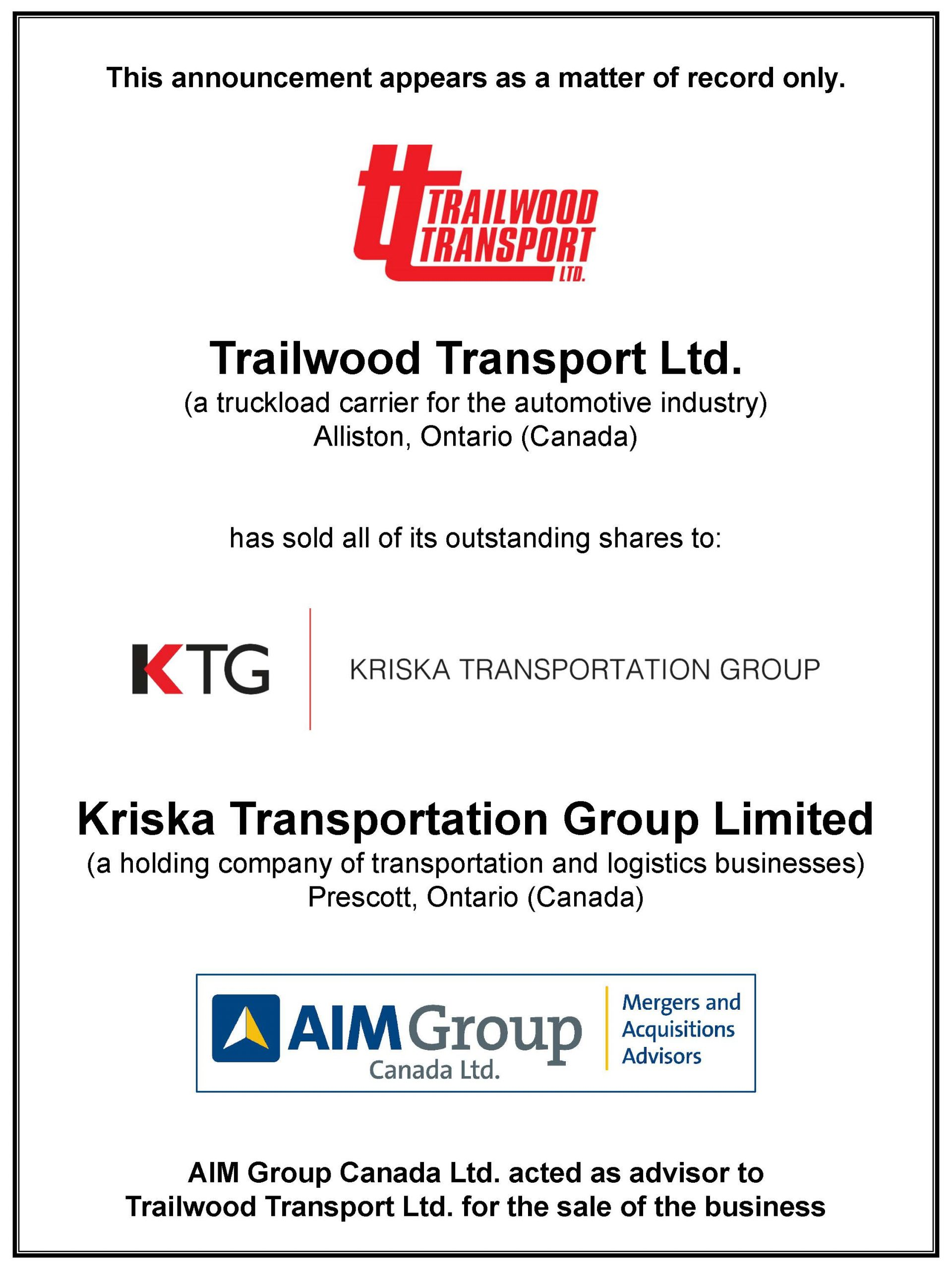 Trailwood Transport Ltd.