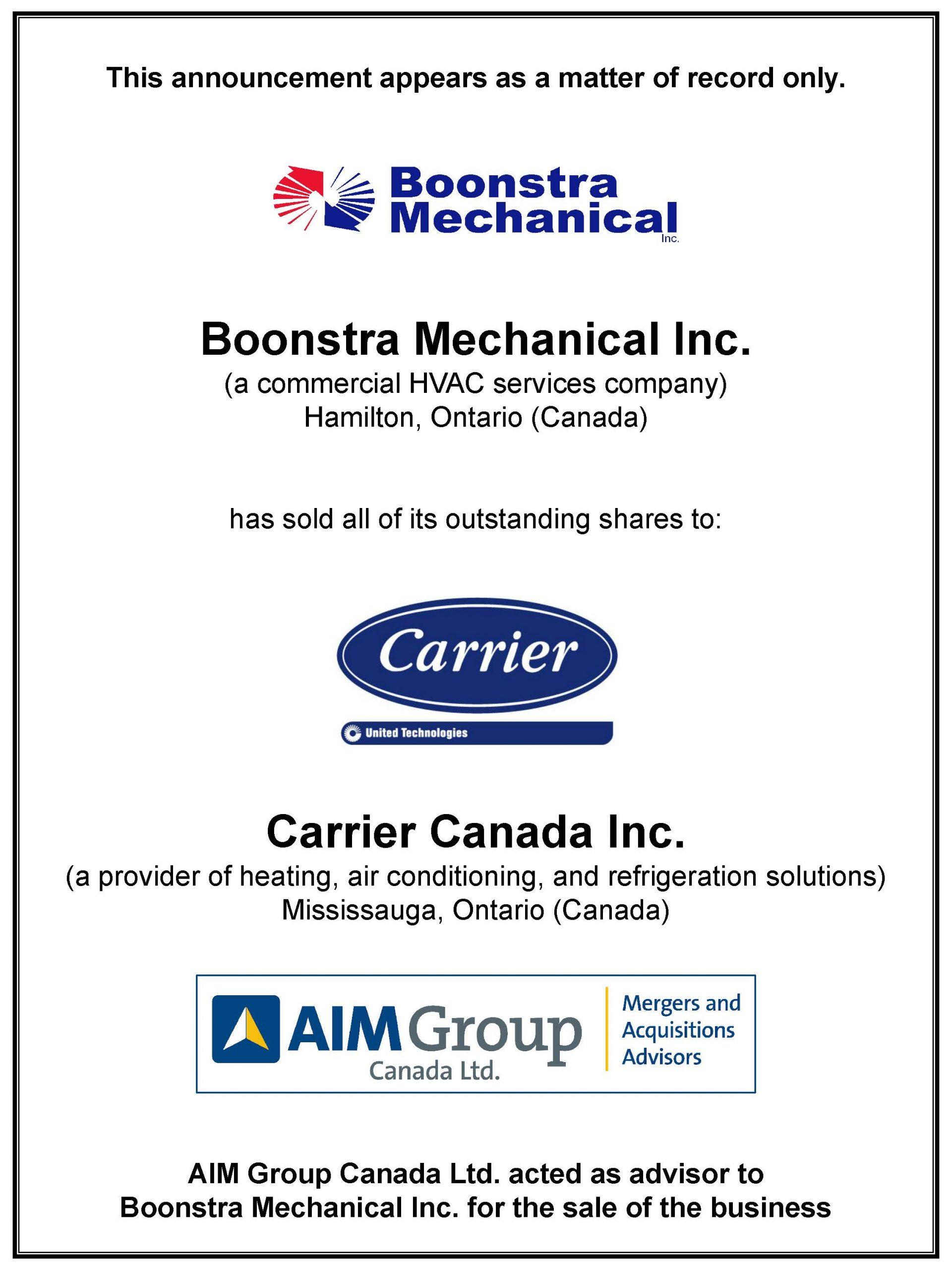 Boonstra Mechanical Inc.